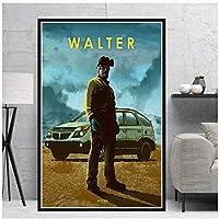 抽象的な悪い映画車の伝説油絵プリントキャンバスポスターアート壁の写真リビングルーム家の装飾50x70cm