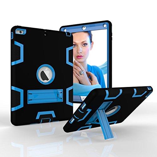 Fizze Funda para iPad Air, de Tres Capas, de policarbonato y Silicona, híbrida de Alto Impacto, a Prueba de caídas, protección de Cuerpo Completo con función Atril para iPad Air/iPad 5 (Modelo 2013)