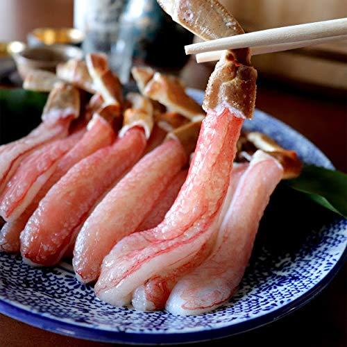 生ズワイガニ棒肉ポーション500g(生食可)冷凍生ズワイガニ