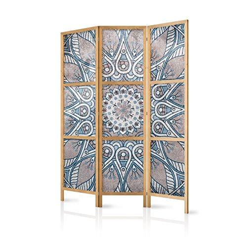 murando - Biombo Mandala 135x171 cm - 3 Paneles Lienzo de Tejido no Tejido Tela sintética Separador...