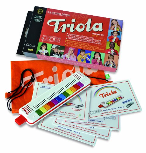 Triola by Seydel Triola-Komplettes Geschenkpaket mit 5 Notenheften Musizieren mit bunten Noten und Tasche