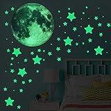 Luminous Wall Sticker 453 pcs Glow in The Dark Dots Stars Small Square