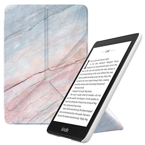 MoKo Case Replacement with Kindle Paperwhite (10th Generation, 2018 Releases), Standing Origami Slim Shell Cover with Auto Wake/Sleep Fits Kindle Paperwhite E-Reader - Marble