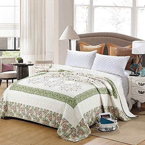 ETDWA Colcha Acolchada 100% algodón, edredón de Retazos Bordado, Funda de Cama, Manta de Aire Acondicionado Suave, sábanas de 230 * 230 cm, fácil de Limpiar