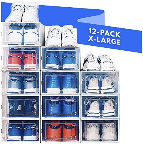 NEATLY Shoe Organizer Shoe Rack Stylish Clear Plastic Stackable Shoe Boxes for Closet Organizers product image