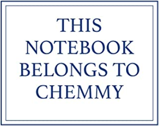 This Notebook Belongs to Chemmy