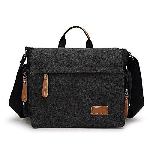 Shoulder Canvas Crossbody Laptop Messenger Bag Travel Purse Satchel School Bag