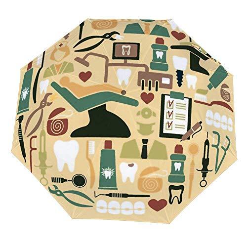 Faltschirm Zahnärztliche Symbole Regenschirme Öffnen Schließen Winddichter Regenschirm Leichte kompakte Außenschirme Sonne & Regen