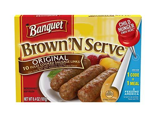 Banquet Brown and Serve Lite Original Breakfast Sausage Link, 6.4 Ounce -- 12 per case.