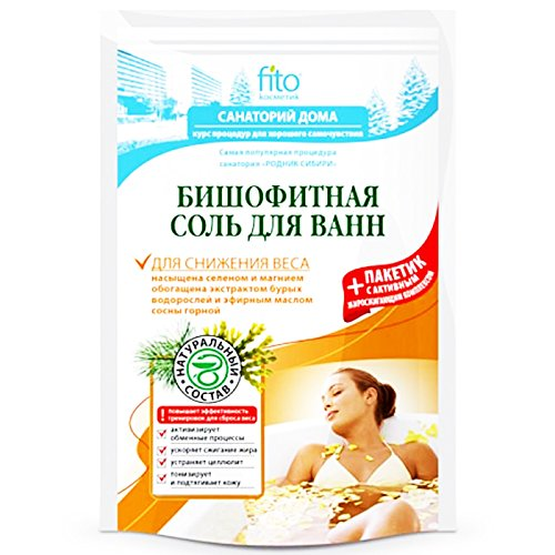 Bischofit Salz & Fettverbrennung Komplex 530g Badesalz Abnehmen Körperpflege