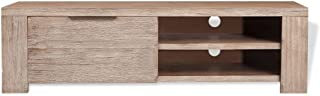 TV Cabinet Solid Brushed Acacia Wood 140 x 38 x 40 Cm