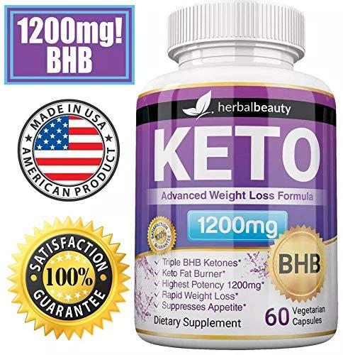Keto BHB 1200mg Pure Ketone 60 Capsules (Pills) Advanced Weight Loss -Natural Ketosis Fat Burner Using Ketone & Ketogenic Diet, Boost Energy While Burning Fat, Fast & Effective Perfect for Men Women 3