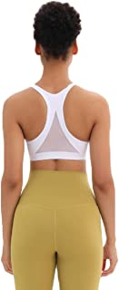 Lrady Sports Bra for Women, Y Back Padded Strappy Sports Bras Support Energy Workout Yoga Bra with Removable Cups