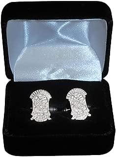 Phi Beta Sigma Sterling Silver Crest Cufflinks