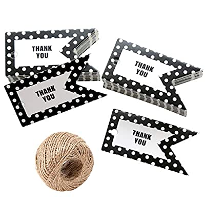 Thank You Gift Tags for Party Favors - 100Pcs B...