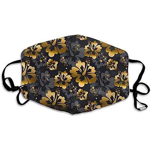 Gold und Schwarze Blumen nahtloses Muster Vektor-Bild Bequeme Abdeckung, universelle Abdeckung
