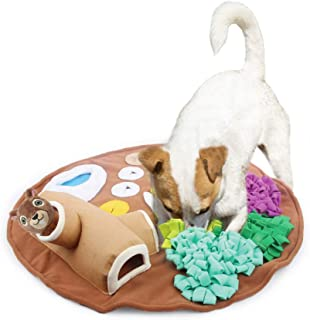 All for Paws Dog Feeding Mat, Nosework Training Squirrel Squeaky Snuffle Treat Mat