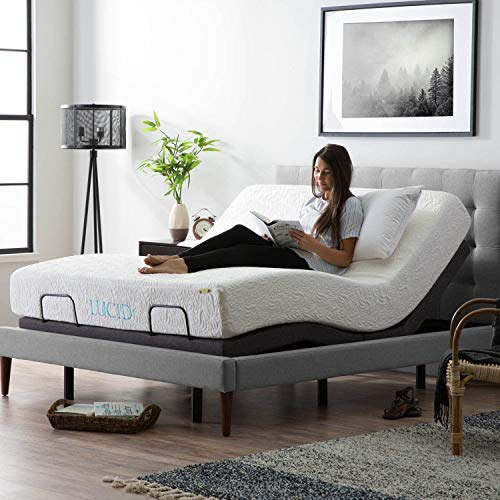 Amazon.com: Amazon Basics Adjustable Bed Base with Head and Foot Incline, Remote Control - Queen: Furniture & Decor $270