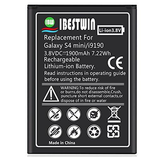 IBESTWIN 1900mAh 3.8V Batería para Samsung Galaxy S4 Mini GT-i9190, GT-i9195, GT-I9192, GT-i9197, GT-i9198