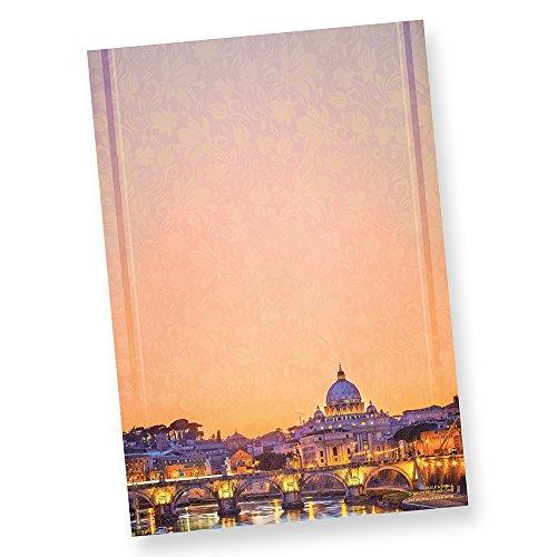 TATMOTIVE Art-77-0050 Petersdom Rom A4 90 g/m² 50 Blatt Briefpapier Design-Papier für Briefe - pastell