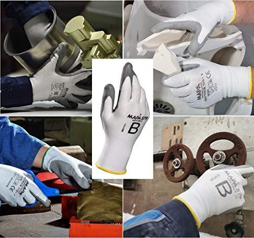 MAPA Professional KRYTECH 579 – Polyurethan-Handschuhe mit leichter Schnittfestigkeit für die Bereiche Automobilindustrie, Maschinenbau und Papierindustrie, weiß, Größe 8, (1 Paar), Schutzhandschuhe