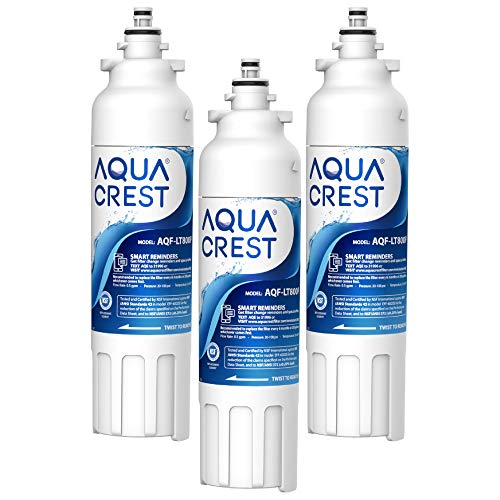 AQUACREST LT800P NSF 401,53&42 Replacement Refrigerator Water Filter, Compatible with LG LT800P, ADQ73613401, ADQ73613402, Kenmore 9490, 46-9490 (Pack of 3)