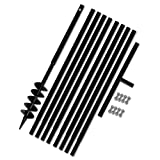 Tidyard- Erdbohrer Handerdbohrer mit Griff 120 mm Verlängerungsrohr 9 m