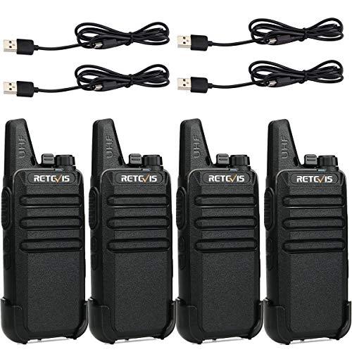 Retevis RT622 Walkie Talkie PMR446 Licenza-Libero Mini Walkie Talkie Ultra-Leggero Ricetrasmittenti VOX...