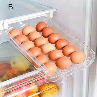 Lynn Kylskåp inbyggda lådor platsbesparande plast hushåll behållare förvaring kök förvaringslåda