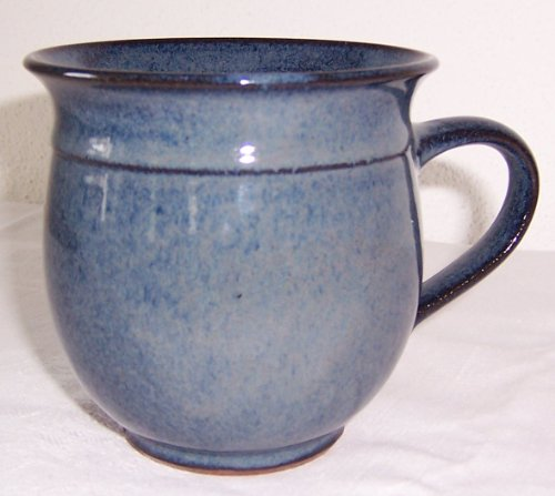 Töpferei Annett Fischer T1 Tasse handgetöpfert Tasse blau Durchmesser 10 cm