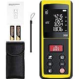 Telemetro Laser, papasbox Misuratore Laser 80m Sensore Angolo Elettronico, 99 dati, LCD retroilluminato, Distanza, Area e Volume, Angolo(X80)