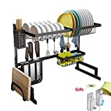 XUE Support à égouttoir en Acier Inoxydable Cuisine évier Plat Vaisselle Fournitures de Cuisine Rangement Rack...