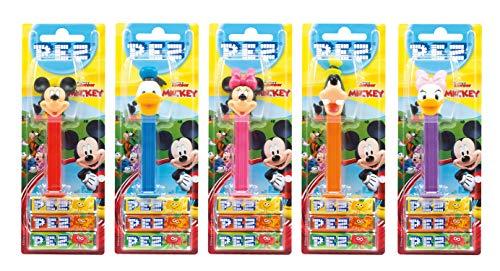 PEZ Spender Set Mickey Clubhouse (5 Spender mit je 3 PEZ Bonbons á 8,5g) + 1 Nachfüllpack (8 PEZ Bonbons á 8,5g)
