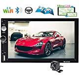 "Podofo Car Stereo Double Din Car GPS Navigation Android Car Radio 7"" Touch"
