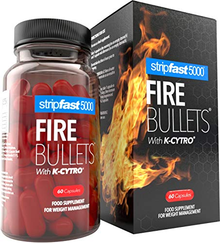 Weight Loss Fat Burner Diet Pills FIRE Bullets + K-Cytro for Women & Men Ultra...