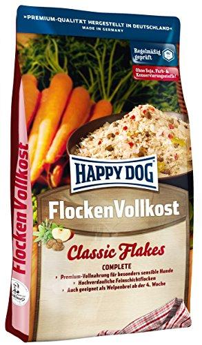 Happy Dog 02165 - Premium Flocken Vollkost - Vollnahrung für ernährungssensible Hunde ab der 4. Woche - 10 kg Inhalt
