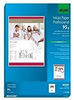 Sigel ip288インクジェット用紙、コート、マット、64.2ポンド、a4、200枚