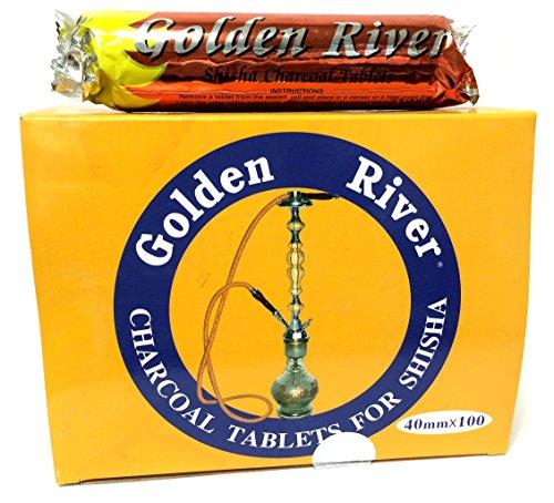 Golden River 4 x 10 Rollen Shisha Kohle 400 Tabs 40mm, Selbstzünder Angebot