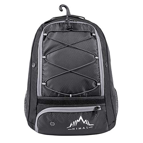 Himal Outdoors Baseball Bag - Baseball Backpack for Youth and Adults, Softball Equipment Bags with Shoe Compartment and Fence Hook Hold Bat,Helmet,Glove and Shoes.(Black)