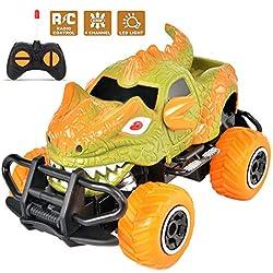 6. Snailrun Remote Control Dinosaur Monster Truck