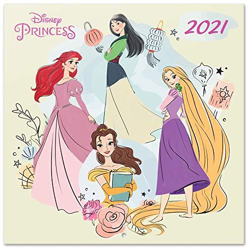 Erik® Calendrier Mural 2021 Princesses Disney | 12 Mois, 30x30cm, 1 Poster Inclus