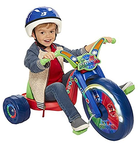 PJ Masks 15' Fly Wheel Ride-On Tricycle Ride On, Red/Blue/Green (76083)