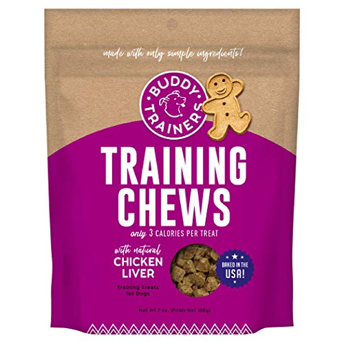 Buddy Trainers Dog & Puppy Training Treats for Small or Large Dogs, Baked in USA, Natural Chicken Liver 7 oz.