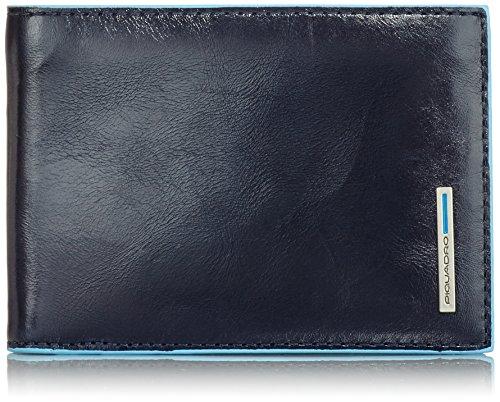 Piquadro PU257B2 Portafoglio, Collezione Blu Square, Blu