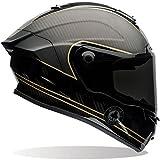 Bell 7069594 Racestar Motorradhelm Speed Check, Schwarz Matt/Gold, XL