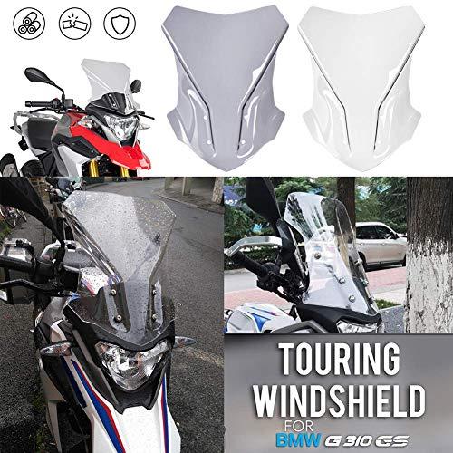 G310GS Motorcycle Touring Taller Parabrezza Flusso d'aria Deflettori del vento Copertura della protezione della zanzariera per B-M-W G310 G 310 GS Accessori 2017 2018 2019 2020 2021(Fumo luminoso)