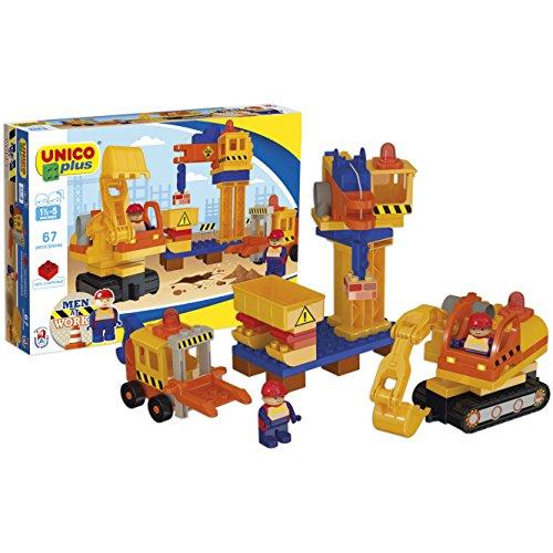Unico- Cantiere di Mattoncini, Colore Giallo/Arancione/Blu, 8626-0000