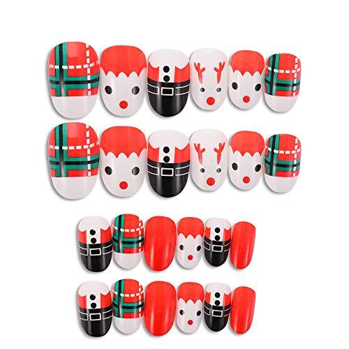 Parches de uñas, extensiones de uñas postizas de uñas, manicura de cobertura completa, decoración de uñas...