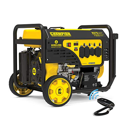 Champion Power Equipment 201004 9375/7500-Watt Portable Generator, Wireless Remote Start