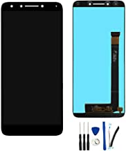 SOMEFUN LCD Display Screen Digitizer Touch Screen Glass Panel Assembly Replacement for Alcatel 7 metroPCS 6062 6062W 6062Z T-Mobile Revvl 2 Plus 2018 Black